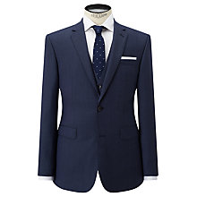 Buy John Lewis Super 100s Wool Birdseye Tailored Suit Jacket, Airforce Online at johnlewis.com