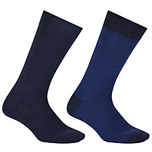 Buy John Lewis Made in Italy Birdseye Stripe Socks, Pack of 2 Online at johnlewis.com