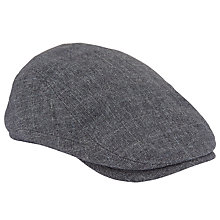 Buy John Lewis Check Flat Cap, Blue Online at johnlewis.com