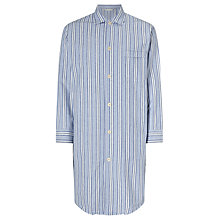 Buy Derek Rose Brushed Cotton Stripe Nightshirt, Blue/White Online at johnlewis.com