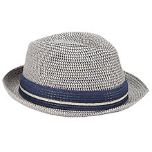 Buy John Lewis Three Twist Trilby Hat, Natural Online at johnlewis.com