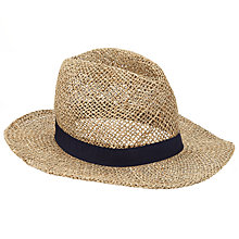 Buy John Lewis Seagrass Fedora Hat, Beige Online at johnlewis.com