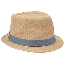 Buy John Lewis Hessian Trilby Hat, Beige Online at johnlewis.com