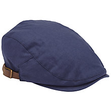 Buy John Lewis Linen Flat Cap, Blue Online at johnlewis.com