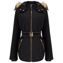 Buy Phase Eight Alanis Puffer Jacket, Black Online at johnlewis.com