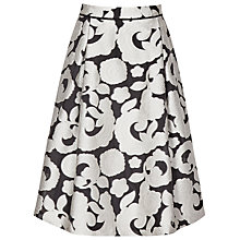 Buy Reiss Drew Jacquard Skirt, Black/Off White Online at johnlewis.com