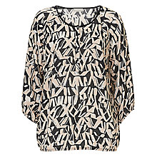 Buy Betty & Co. Graphic Print Blouse, Black/Cream Online at johnlewis.com