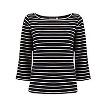 Buy Mint Velvet Striped Top, Blue Online at johnlewis.com