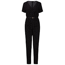 Buy Sugarhill Boutique Greta Polka Jumpsuit, Black Online at johnlewis.com