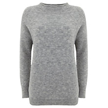 Buy Mint Velvet Funnel Neck Boxy Jumper, Grey Online at johnlewis.com