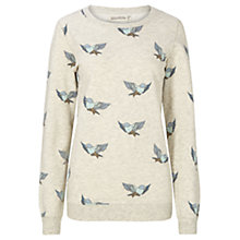 Buy Sugarhill Boutique Bluebird Print Sweatshirt, Cream Marl Online at johnlewis.com