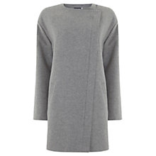 Buy Mint Velvet Collarless Coat, Grey Online at johnlewis.com