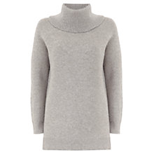 Buy Mint Velvet Metallic Detail Chunky Knit, Grey Online at johnlewis.com