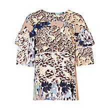 Buy Reiss Fife Printed Short Sleeved Top, Multi Online at johnlewis.com