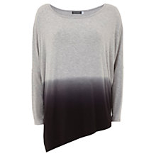 Buy Mint Velvet Ombre Asymmetric Jersey T-Shirt, Grey Online at johnlewis.com