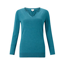 Buy East Kingfisher Notch Neck Jumper Online at johnlewis.com