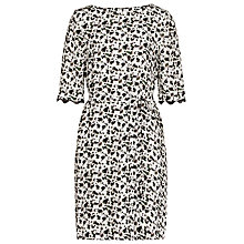Buy Reiss Noemi Dress, Olive/Off White Online at johnlewis.com