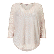 Buy Phase Eight Spot Burnout Top, Pale Pink Online at johnlewis.com