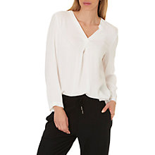 Buy Betty & Co. Long Sleeved Blouse, Snow White Online at johnlewis.com