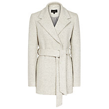 Buy Reiss Anda Melange Belted Jacket, Salt Online at johnlewis.com