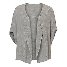 Buy Betty & Co. Sleeveless Ribbed Cardigan, Silver Melange Online at johnlewis.com