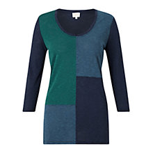 Buy East Asymmetric Colour Block Top, Multi Online at johnlewis.com