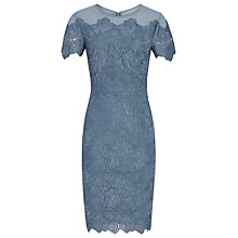 Buy Reiss Floran Mesh Top Lace Dress, Slate Online at johnlewis.com