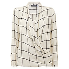 Buy Mint Velvet Check Wrap Top, Multi Online at johnlewis.com