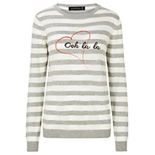 Buy Sugarhill Boutique Nita Ooh La La Jumper, Grey/Cream Online at johnlewis.com