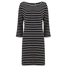 Buy Mint Velvet Stripe Split Sleeve Dress, Blue Online at johnlewis.com
