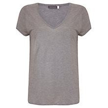 Buy Mint Velvet Foiled T-Shirt, Grey Online at johnlewis.com
