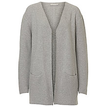 Buy Betty & Co. Long Ribbed Cardigan, Silver Melange Online at johnlewis.com