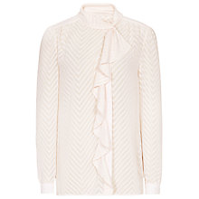 Buy Reiss Price Textured Blouse, Soft Pink Online at johnlewis.com