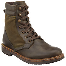 Buy John Lewis Wax Canvas Boots, Olive Online at johnlewis.com