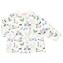 Buy John Lewis Baby Seaside Sweatshirt, Cream Online at johnlewis.com