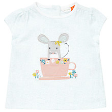 Buy John Lewis Baby Mouse Applique T-Shirt, White/Multi Online at johnlewis.com