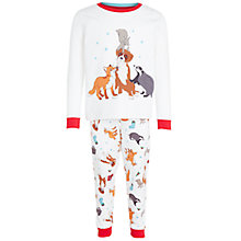 Buy John Lewis Buster the Boxer Children's Pyjama Set, White Online at johnlewis.com