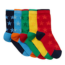 Buy John Lewis Children's Bright Tonal Stars Socks, Pack of 5, Yellow/Multi Online at johnlewis.com