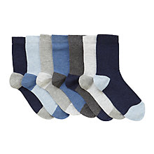 Buy John Lewis Children's Marl Socks, Pack of 7, Blue/Grey Online at johnlewis.com