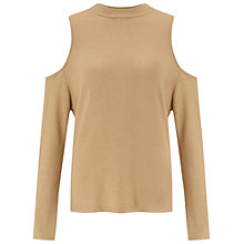 Buy Miss Selfridge Camel Knot Back Top, Camel Online at johnlewis.com