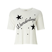 Buy Miss Selfridge Wanderlust T-Shirt, Cream Online at johnlewis.com