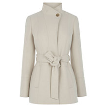 Buy Oasis Phillipa Funnel Neck Coat, Off White Online at johnlewis.com