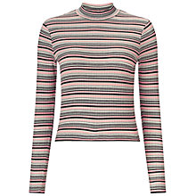 Buy Miss Selfridge Stripe Crop Top, Pink Online at johnlewis.com