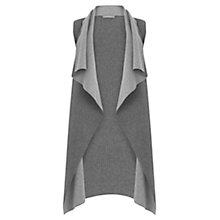Buy Oasis Drape Knitted Gilet, Mid Grey Online at johnlewis.com
