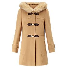 Buy Miss Selfridge Toggle Duffle Coat, Camel Online at johnlewis.com