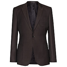Buy Reiss Brickel Wool Slim Fit Blazer, Chocolate Online at johnlewis.com