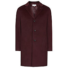 Buy Reiss Angel Wool Epsom Coat, Plum Online at johnlewis.com