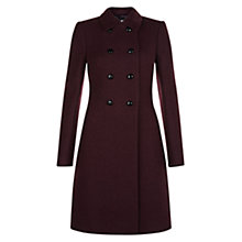 Buy Hobbs Fonda Coat, Burgundy Online at johnlewis.com
