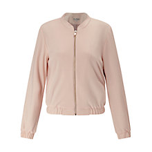 Buy Miss Selfridge Bomber Jacket, Powder Blush Online at johnlewis.com