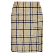 Buy Hobbs Tiffany Check Skirt, Camel Online at johnlewis.com